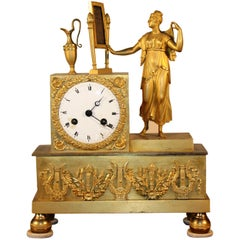 French Empire Figural Mantel Clock
