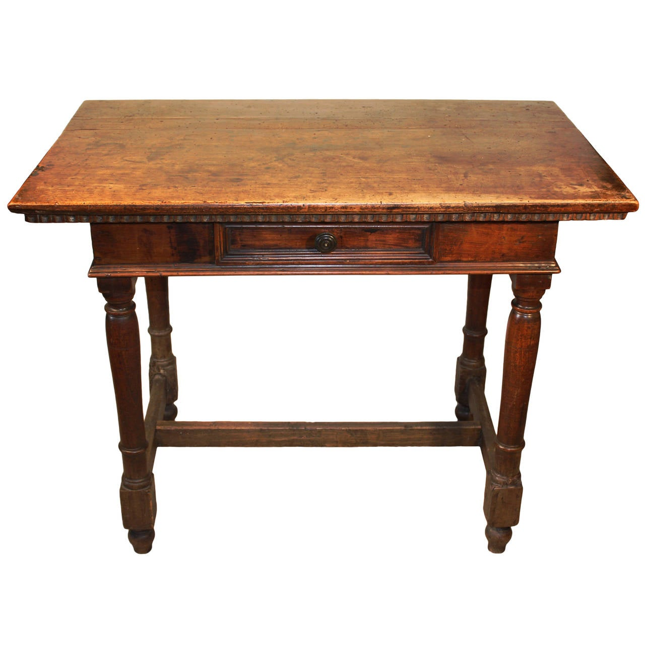18th century rustic continental side table in walnut at 1stdibs - Archives departementales 33 tables decennales ...