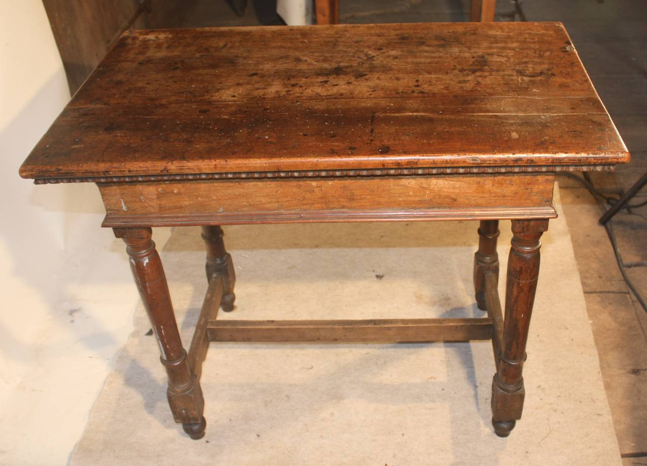 18th Century Rustic Continental Side Table In Walnut 3