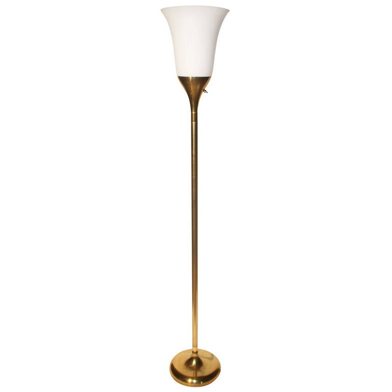 Chic french torchiere floor lamp for sale at 1stdibs for White french floor lamp