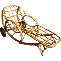A Fabulous 40's Art-Deco Lounge Chair In Bamboo