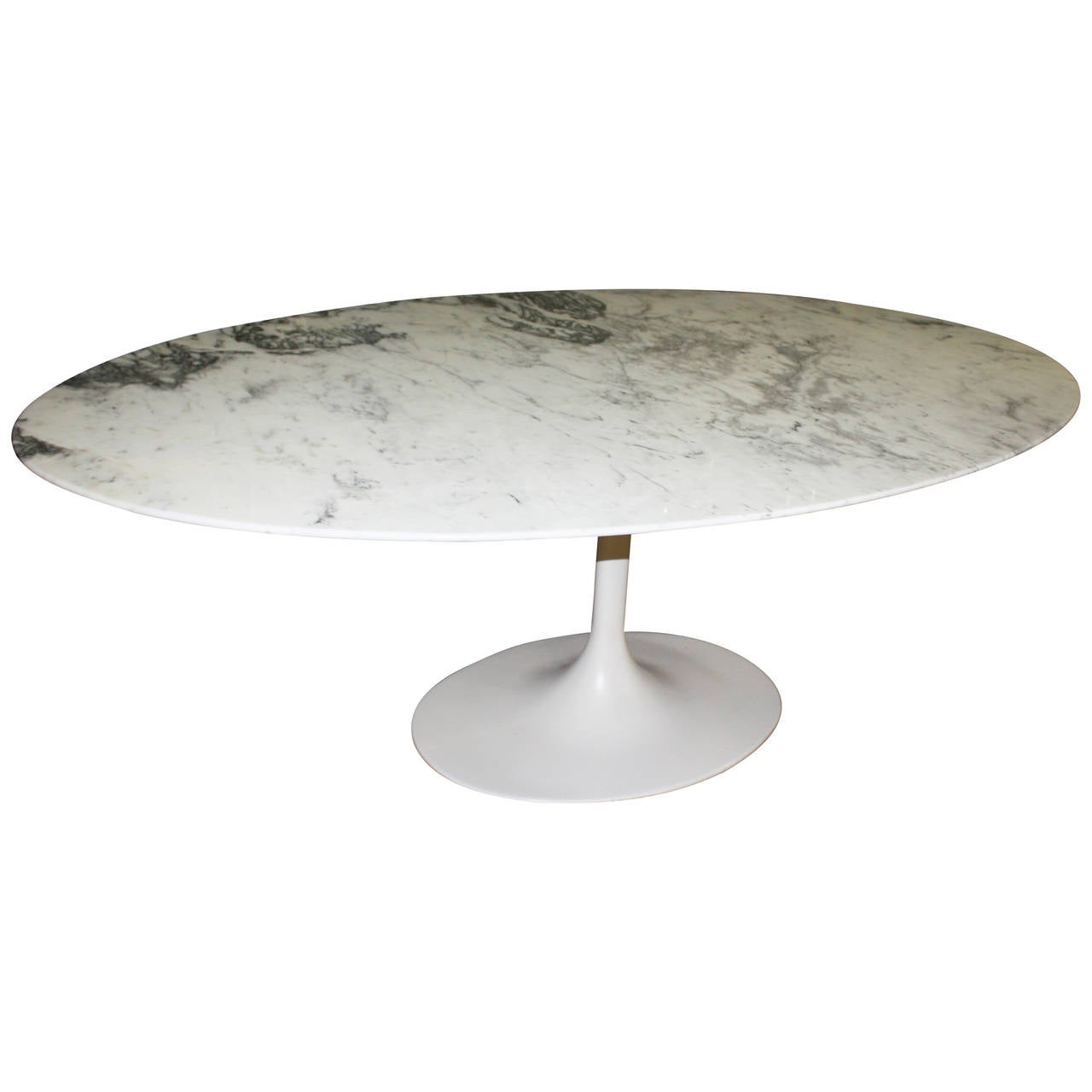 Large Oval Dining Table Designed By Eero Saarinen At 1stdibs
