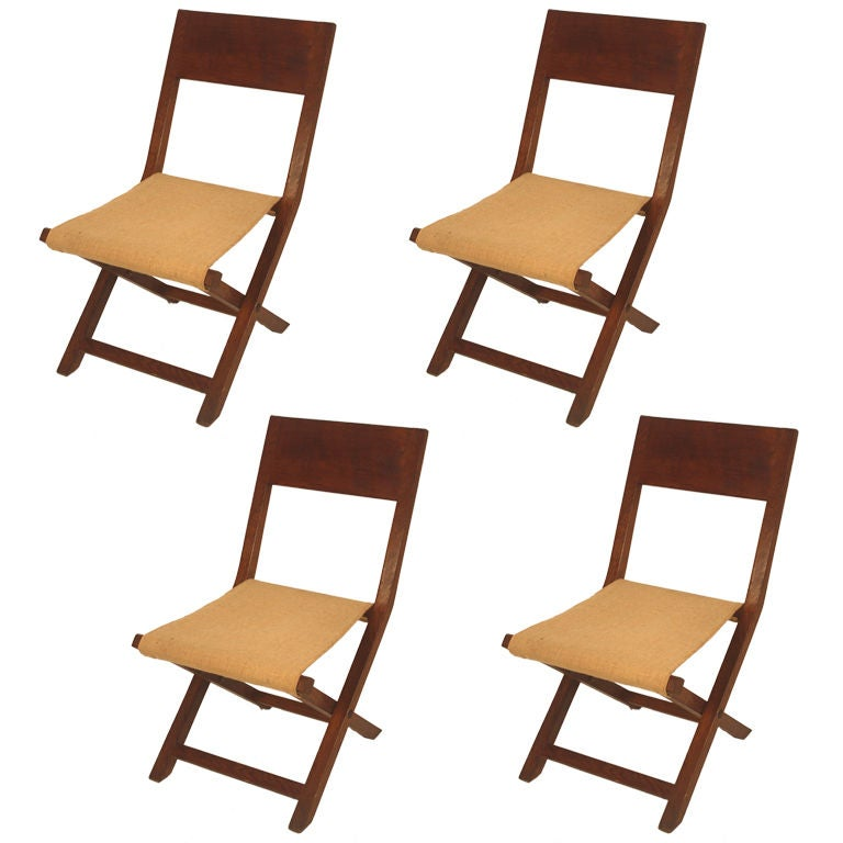 Set Of 4 Folding Chairs French 40 39 S At 1stdibs