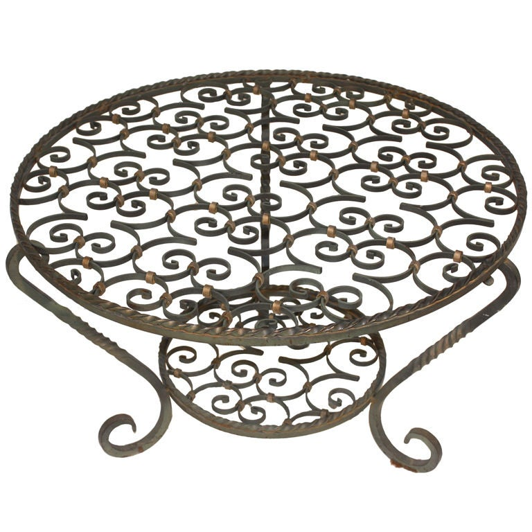 Wrought Iron Cocktail Table At 1stdibs