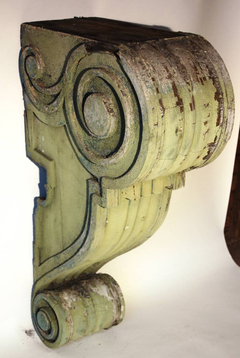 Pair Of Large Wood Corbels 19th Century For Sale At 1stdibs