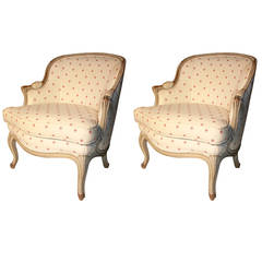 Pair Of Louis XV Style Small-Scale Bergeres