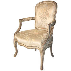 Louis XV Painted Child's Armchair, 18th Century