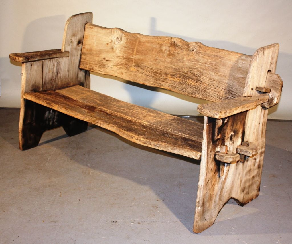 Rustic Wooden Benches ~ Rustic scottish garden bench at stdibs