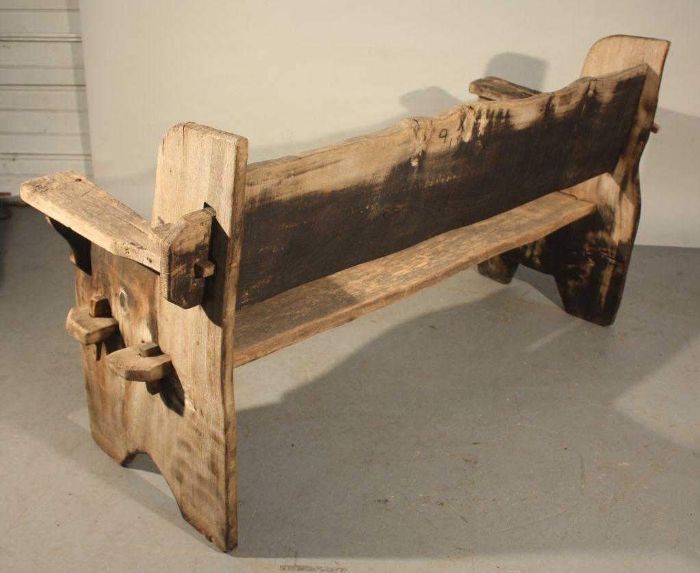 Rustic scottish garden bench at 1stdibs
