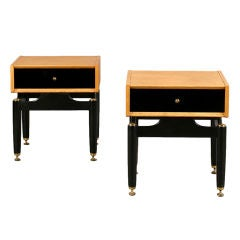 Pair Of English Mid-Century End Tables By E. Gomme