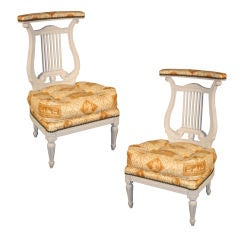 "Pair of French Louis XVI Style ""Voyeuse"" Side Chairs"