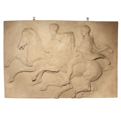 Large Classical Greek Bas Relief In Plaster