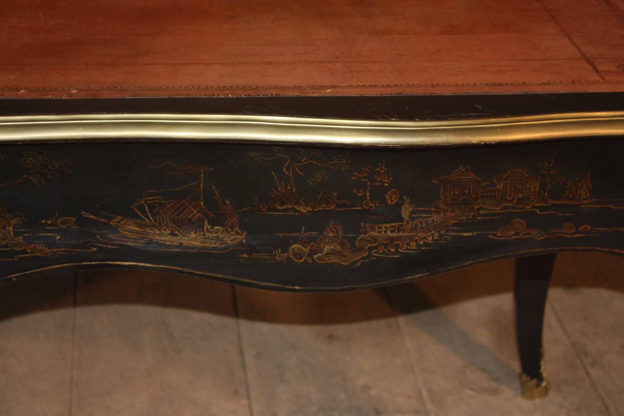 Louis xv style japanned bureau plat circa 1810 for sale for Bureau louis xv