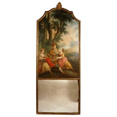 18th Century Louis XVI Trumeau Mirror