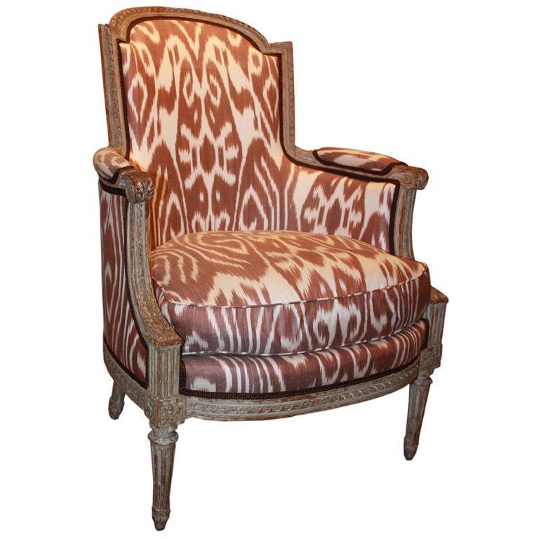 louis xvi bergere signed lelarge at 1stdibs. Black Bedroom Furniture Sets. Home Design Ideas