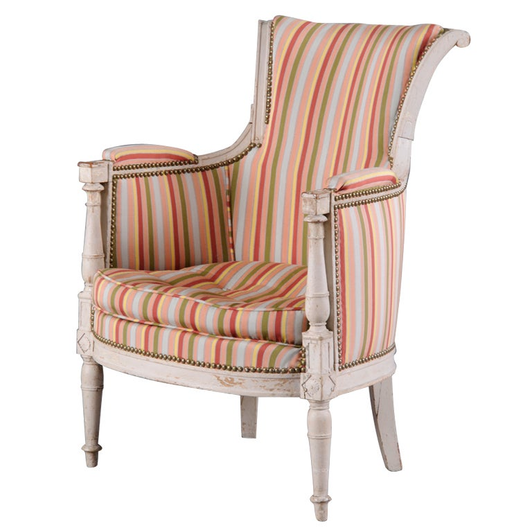 French Directoire Painted Bergere For Sale