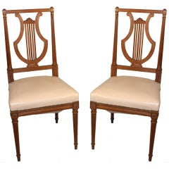 Set of 4 of Louis XVI Style Side Chairs Attributed to Jansen