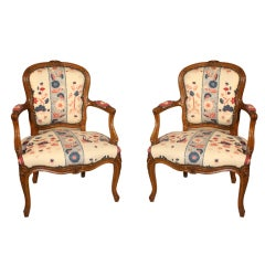 Pair Of Louis XV Fauteuils