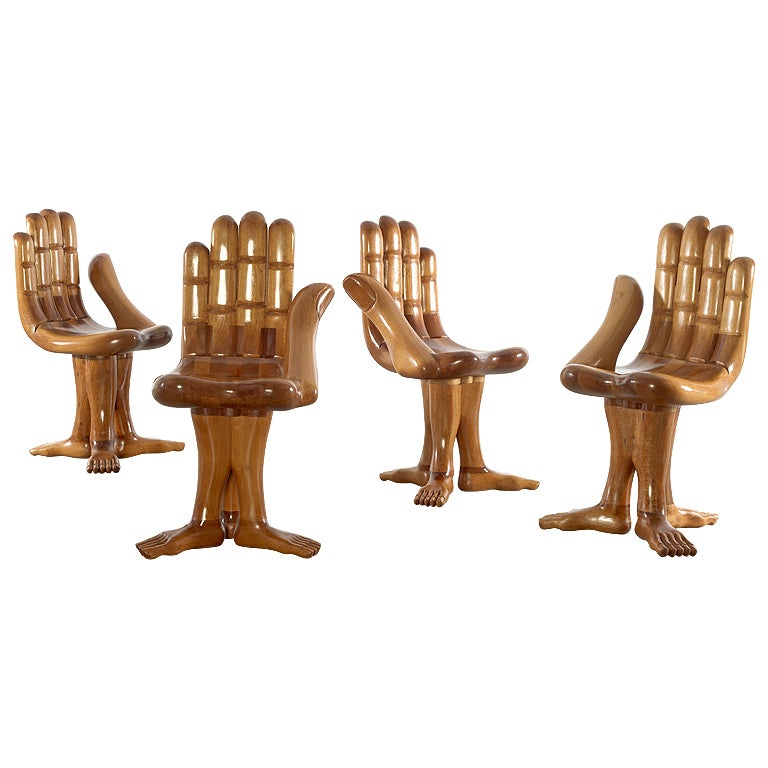 Two Hand Chairs By Pedro Friedeberg At 1stdibs