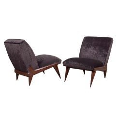 Ico Parisi Pair of Italian Lounge Chairs