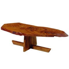 George Nakashima Rare Keyaki Minguren Coffee Table