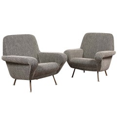 Pair of Armchairs by Gianfranco Frattini