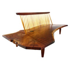 Conoid Bench from the Rockefeller guesthouse by George Nakashima