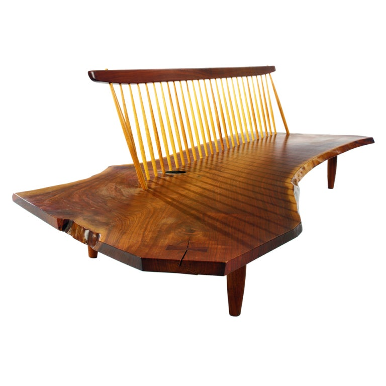 Conoid Bench from the Rockefeller guesthouse by George