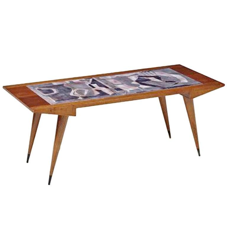 Square Steel Coffee Table Italian C 1970: Coffee Table, Ca. 1953 At 1stdibs