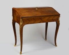 Louis XV Ormolu-Mounted Tulipwood Bureau en Pente, attributed to Migeon