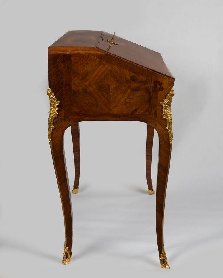 Louis xv ormolu mounted tulipwood bureau en pente for 13 bureau ims llc