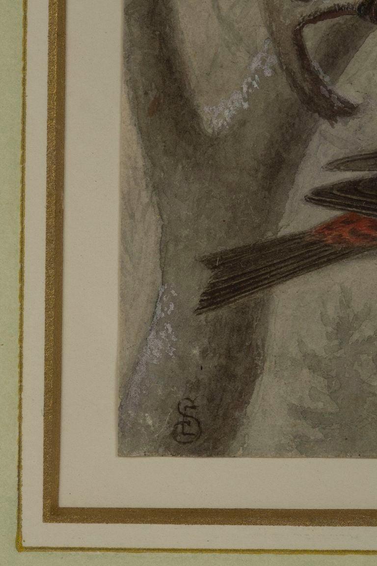 19th c. Pair of Watercolors, American School  For Sale 2