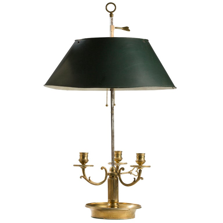 Louis xvi style gilt brass bouillotte lamp at 1stdibs - Artistic d lamp shade designed with modern and elegant shape style ...