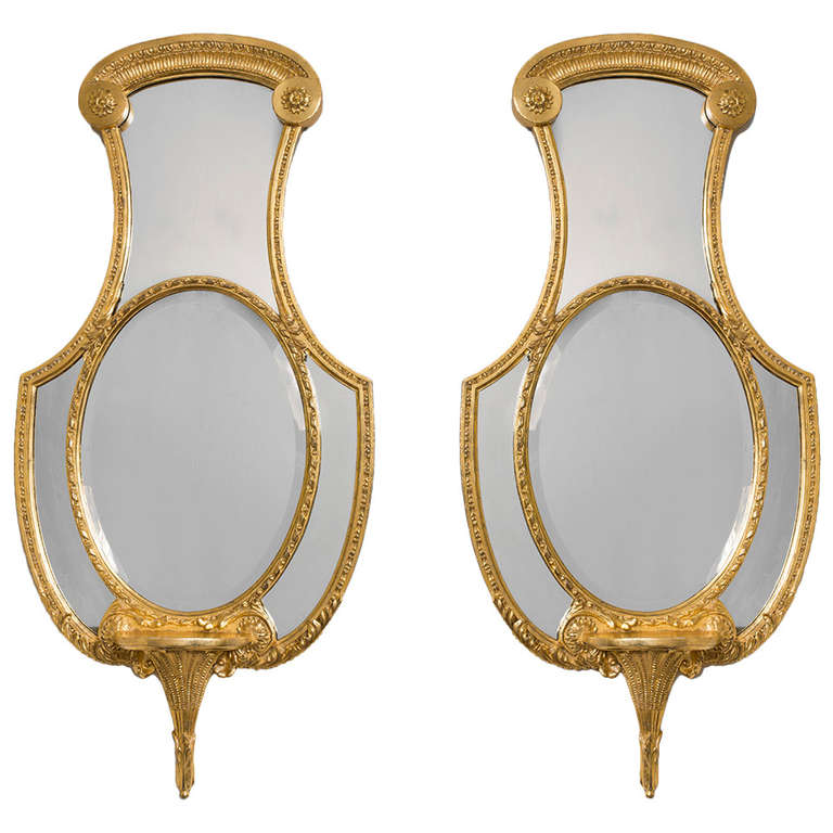 Pair of Regency Giltwood Mirrors