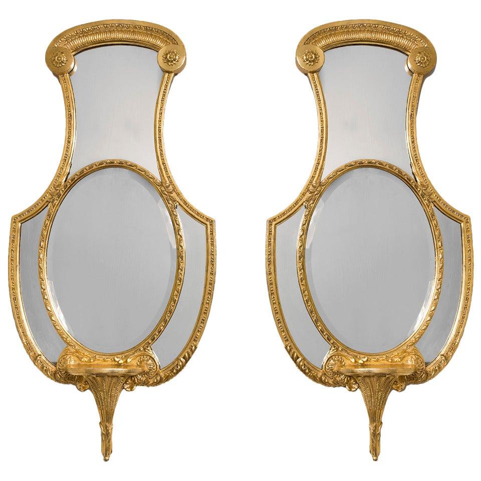 Pair of Regency Giltwood Mirrors