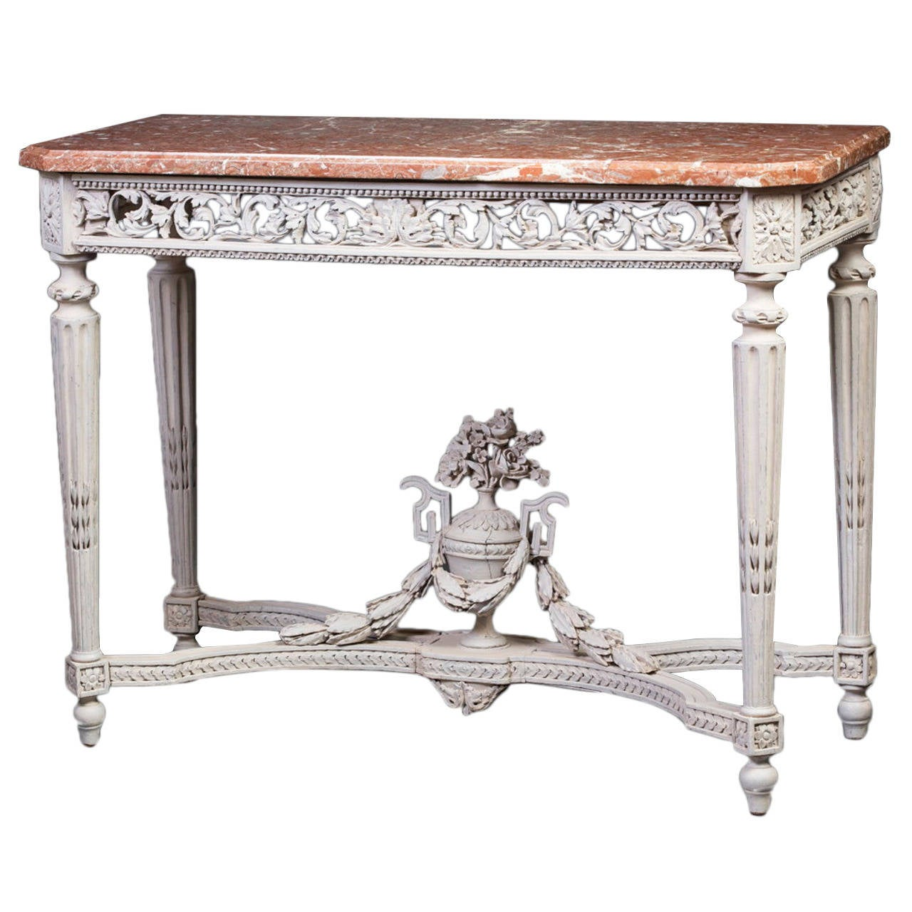 Louis XVI Pale Grey-Painted Console