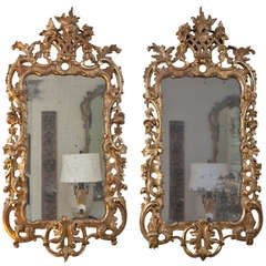 Matched Pair of George III Giltwood Mirrors