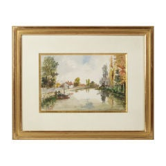 Watercolor, French School, 19th Century