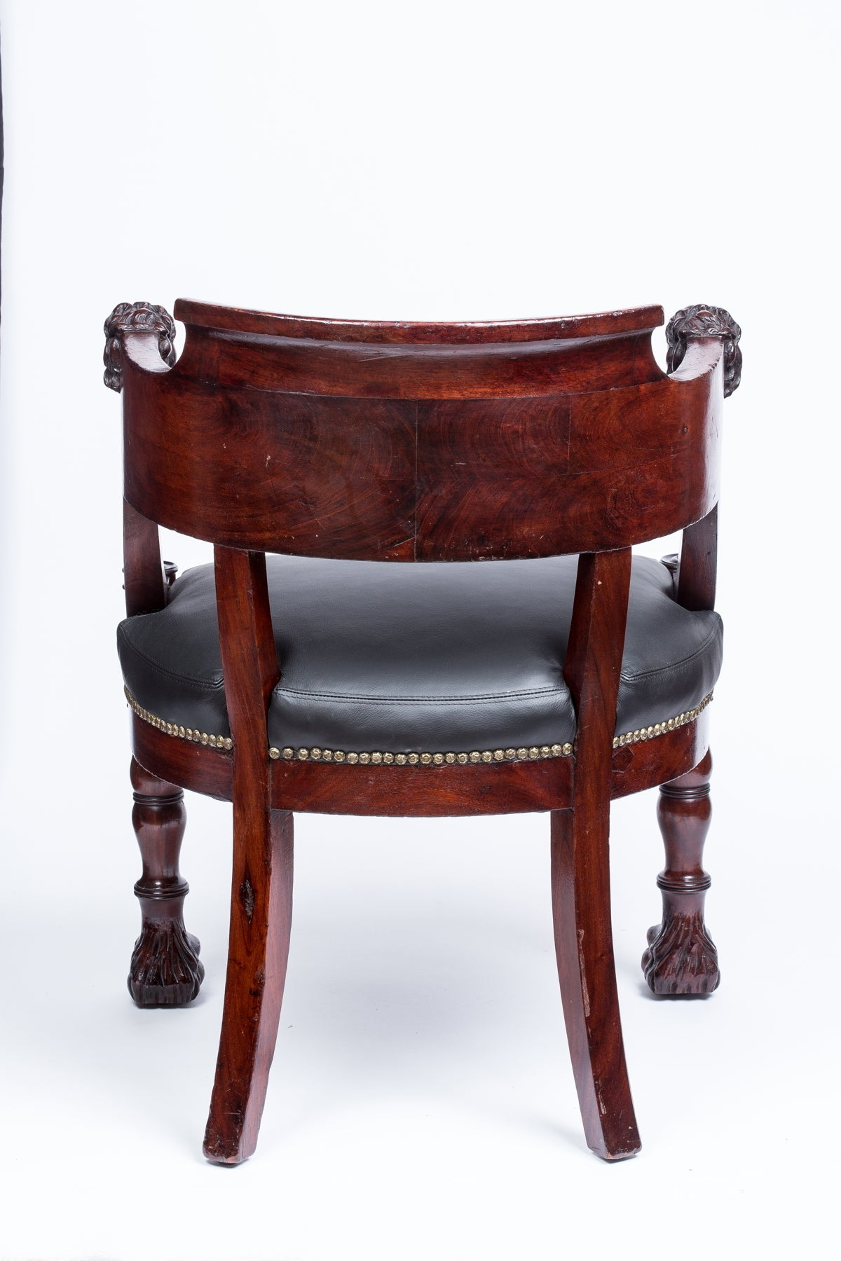 Empire Mahogany Fauteuil De Bureau Desk Armchair For Sale At 1stdibs
