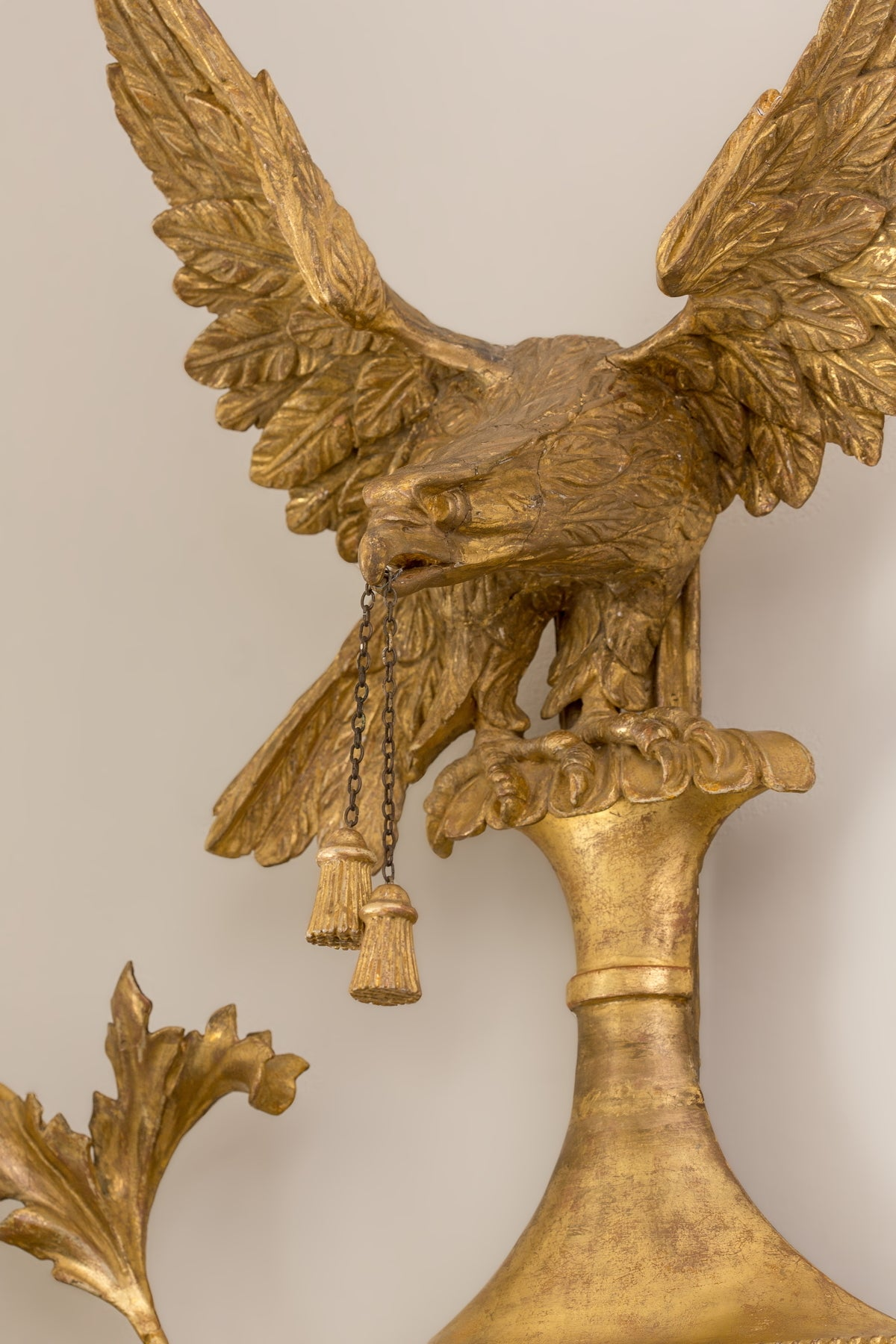 18th Century Pair of George III Giltwood Two-Light Sconces For Sale