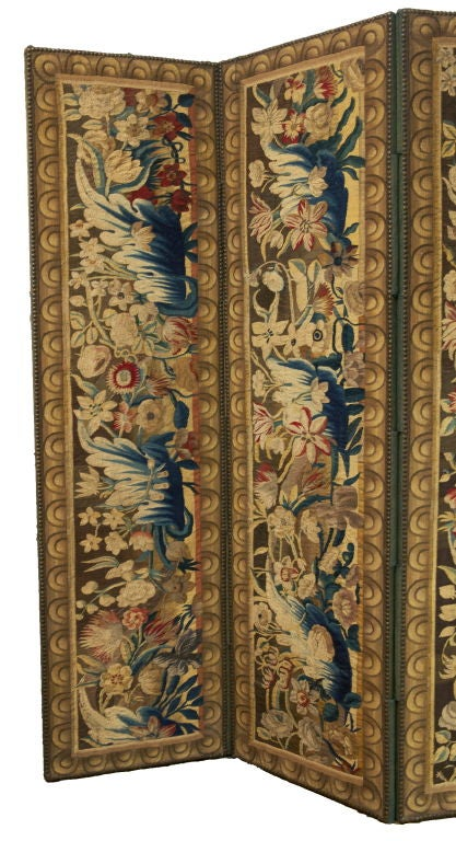 Belgian A Flemish Tapestry Five-Panel Screen For Sale