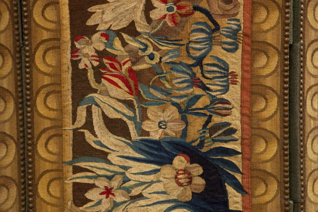 18th Century and Earlier A Flemish Tapestry Five-Panel Screen For Sale