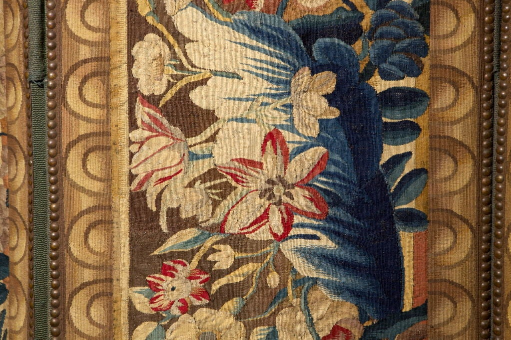 A Flemish Tapestry Five-Panel Screen For Sale 1