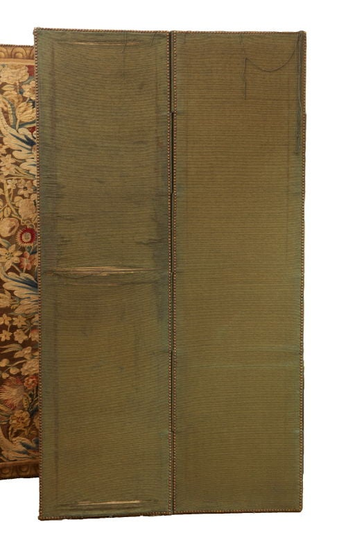 A Flemish Tapestry Five-Panel Screen For Sale 3