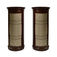 Pair of Regency Mahogany Pedestal Side Cabinets