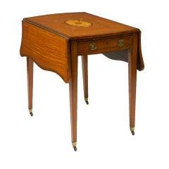George III Inlaid and Satinwood Pembroke Table