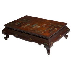 Chinese Red Lacquered Low Table