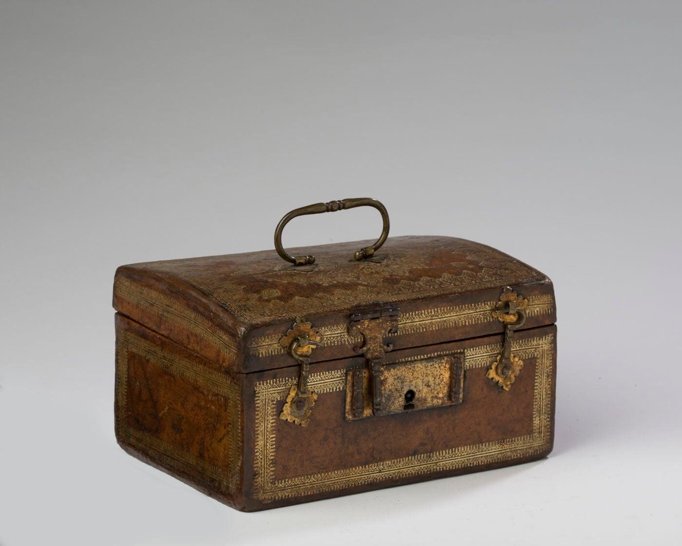 Louis XVI Gilt-Tooled Leather Box
