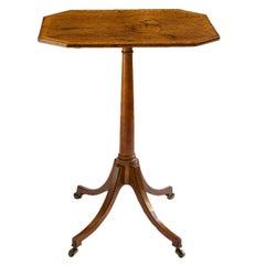 George III Rosewood and Satinwood Side Table