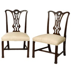 Pair of George III Mahogany Chippendale Chairs
